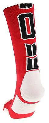 (Large, #0) - Player Id Number Crew Sock (SINGLE SOCK) - Red/Black. Free Deliver
