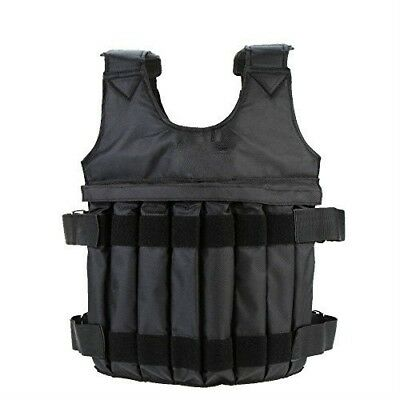 Yosoo 44LB/ 20KG Adjustable Weighted Vest Workout Exercise Boxing Training Fitne