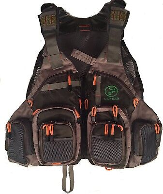 Fly Fishing Vest for Anglers Mesh Adjustable Size for Men and Women with 18 Mult