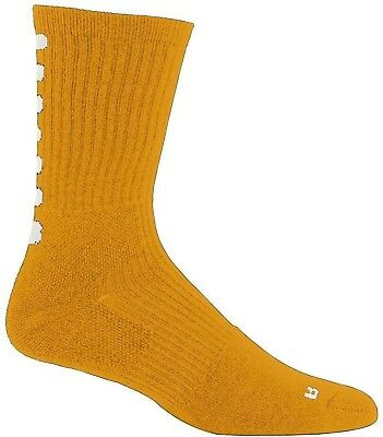 (Adult, Gold/White) - Augusta Sportswear Colour Block Crew Sock. Delivery is Fre