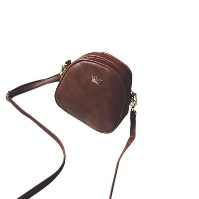 (Coffee) - Gotd Fashion Women Half Circle Leather Handbag Cross Body Shoulder Me