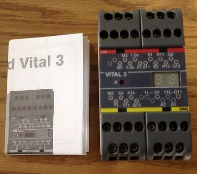 Abb Jokab Safety Relay 24Vdc Vital 3 *new No Box*