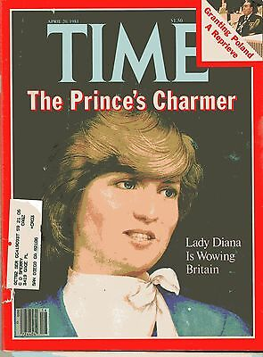 PRINCESS Lady DIANA Wowing Britain PHOTOS Collectible TIME MAG April 20 1981