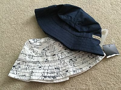 2 baby boys summer hats from Next size 3 - 6 months NWT