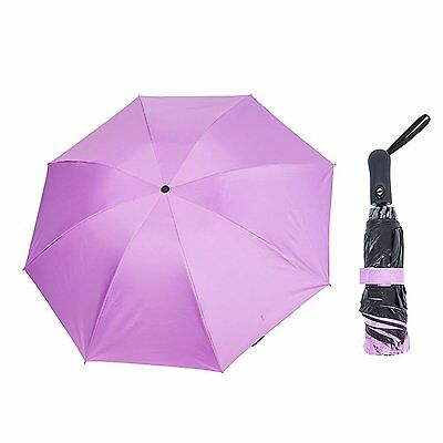 Compact Auto Open Close Pink Folding Anti UV Umbrella Automatic Travel Windproof