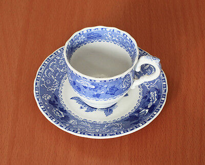 "Spode ""Camilla"" Copeland Blue Scalloped Demitasse Cup and Saucer Set LN"