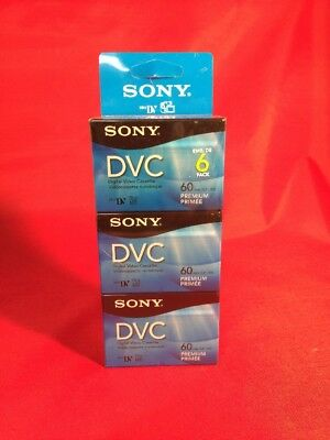 NEW 6-Pack Sony DVC Digital Video Cassette Tapes 60 Minutes Long Play Sealed