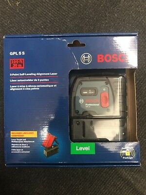 Bosch Professional Gpl 5S 5-Point Self-Leveling Alignment Laser New  Msrp $199