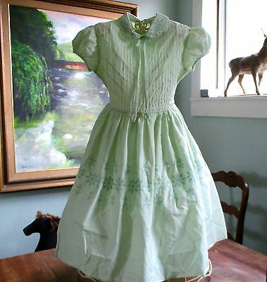 1950's Party Dress Mint Green Lord & Taylor's 5th Ave NYC Label