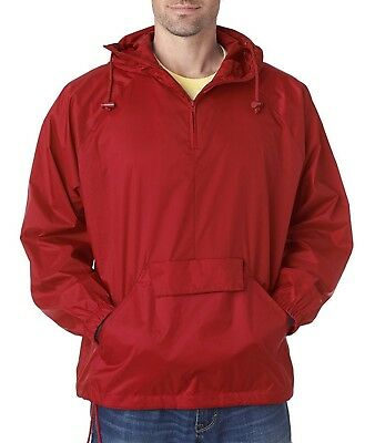 (3XL, Red) - Ultraclub 8925 UC Packaway Jacket. Delivery is Free