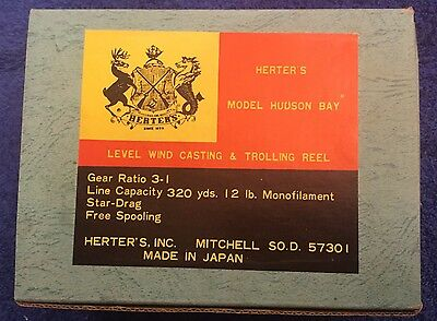 Vintage Herter's Model Hudson Bay Reel New In Box Nos