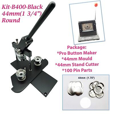 """(KIT)44mm(1 3/4"""")PRO BADGE MACHINE BUTTON MAKER-B400+MOULD+100PARTS+STAND CUTTER"""