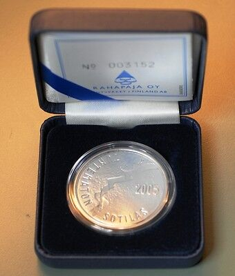 2005 Finland Unknown Soldier & Finnish Film Art 10 Euro Silver Proof Coin