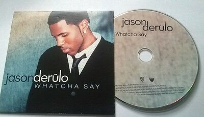 Jason Derulo * Whatcha Say * Rare 1 Track Promo Cd 2009 Irish Card Case