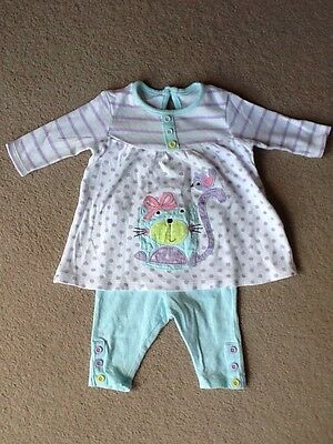 Baby Girls Dress And Leggings Outfit - First Size