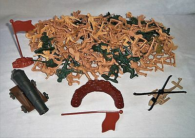 Huge Lot Miniature Plastic TOY SOLDIER Army Guys War Figures Figurines Cannon