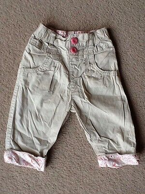 Baby Girls TU Cotton Summer Trousers 3-6 Months