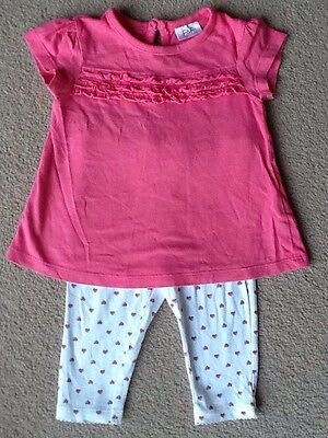 Baby Girls T-shirt And Leggings Outfit 3-6 Months
