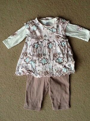 Baby Girls Next 3pc Outfit 3-6 Months
