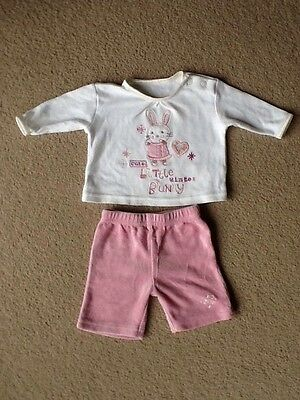 Baby Girls Top And Trousers Outfit - Newborn 6lb Baby