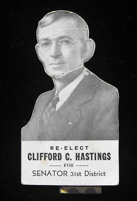 Clifford Hastings Rensselear County Senator Political Advertising Needle Holder