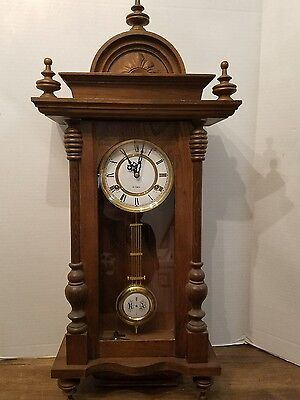 Vintage Wooden R A Pendulum Wall Clock 31 Day