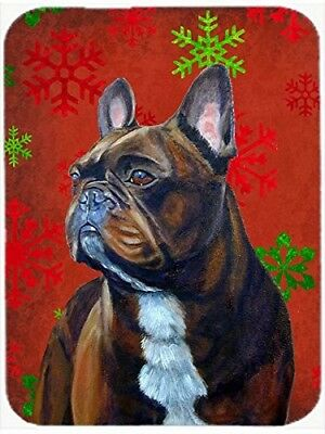 (Red and Green Snowflakes) - Caroline's Treasures LH9340LCB French Bulldog Red