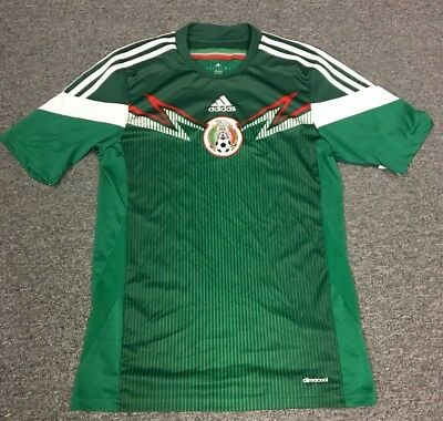 f9e825a0fad Adidas Mexico National Soccer Team Mens Small Home Jersey Green 2014 World  Cup .