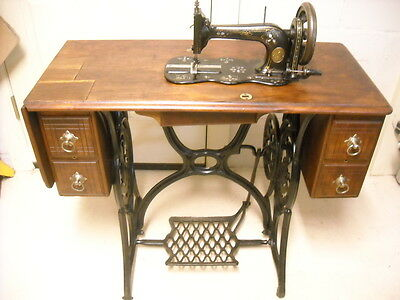 """1882 Singer  -""""New Family """" Model 12- Mother of Pearl- Treadle Sewing machine."""