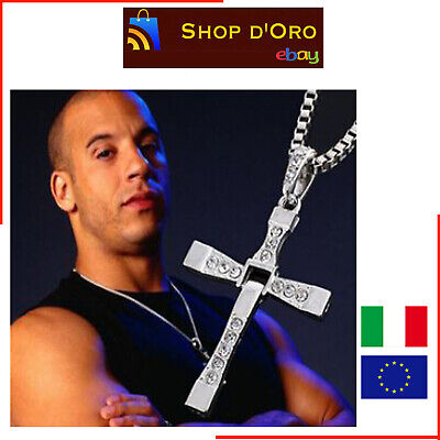 COLLANA CROCE DOMINIC TORETTO FAST & FURIOUS VIN DIESEL NUOVO necklace cross