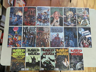 George A Romero's Night Land Of The Living Dead 17 Issue Comic Lot Avatar Horror