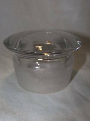 """Large Antique Apothecary/pharmacy Bottle Ground Glass Lid/stopper Id 2.75"""""""