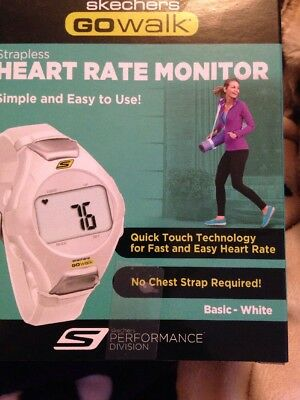 Skechers Go walk Heart Rate Monitor.white. Freepost D27