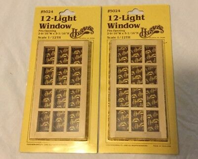 Houseworks 5024 12 Light Window set of 2 New in Box NIB 1/12th scale