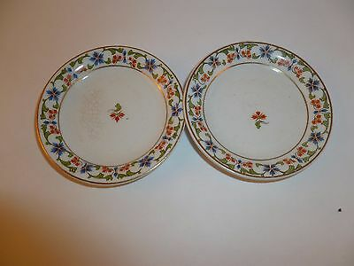 """Pair 2 W. H. Grindley & Co England China 3"""" Butter Pats"""
