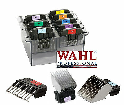 Wahl Stainless-Steel SNAP ON Blade Guide COMB 8pc SET*Fit KM2,KM5,KM10 Clipper