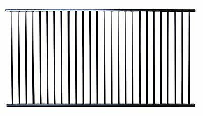 Pool Fencing Panel 2400mm x 1200mm high Flat Top in Black Satin Fence Panel