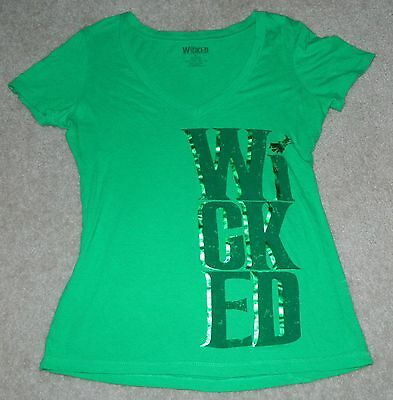 Womens WICKED the Wizard of Oz Musical WICKED WEAR Foil S/S Shirt, Sz. XL
