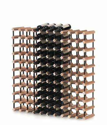 Bordex Wine Rack - 110 bottle. Timber and Metal