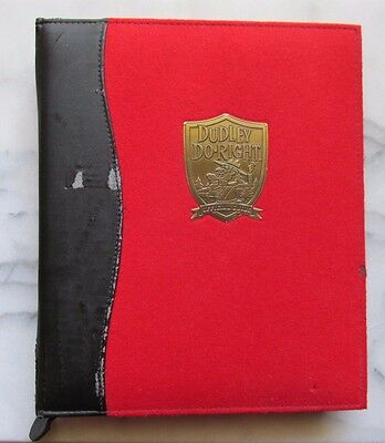 Rare Dudley Do Right Official Handbook & Cd Guide 71 Pages Complete - 1999