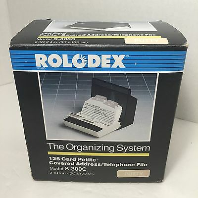 """New Rolodex S300C Petite 125 Business Office Lined Cards 2 1/4x 4"""" Covered Putty"""