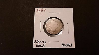 "1889 Liberty Head ""V"" Nickel! Free Shipping!"