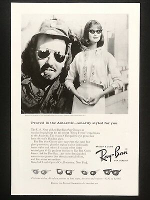 1959 Vintage Print Ad RAY BAN Sunglasses Style Fashion Fancy Dress Lady
