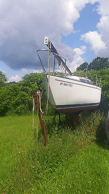 s2  7.3 23 sailboat on trailer