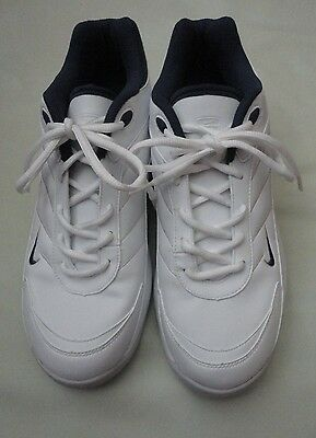 NEW! NIKE AIR GOLF WHITE LEATHER GOLF SHOES Soft Cleat OXFORD Shoes Men's  9.5