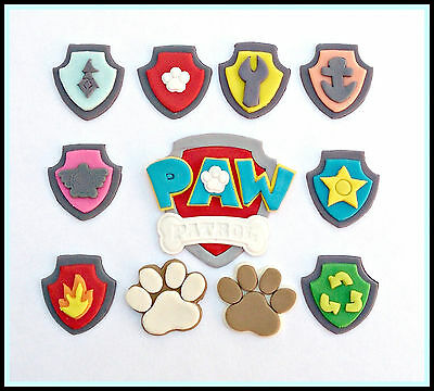 Paw patrol cake topper pack, edible, fondant cupcakes, birthday party