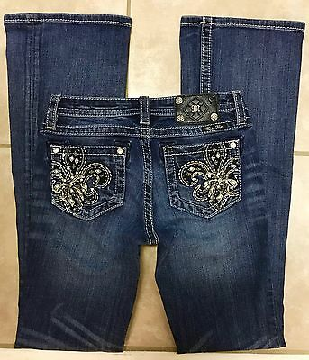 Miss Me JK5581B Girls Boot Bootcut Stretch Blue Jeans size 16
