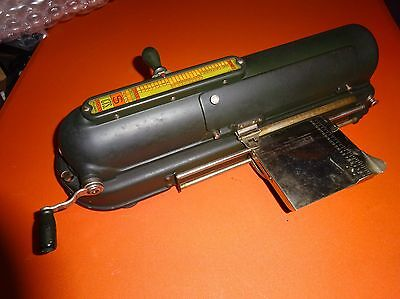 Antique Protectograph Check Writer Machine - Made by Todd, Rochester NY USA!