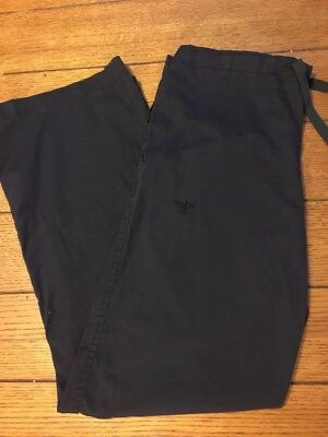 Womens Med Couture Scrub Pants Small Black
