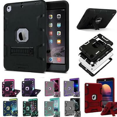 Shockproof  Military Heavy Duty Leather Stand Case Cover  For iPad Mini 4